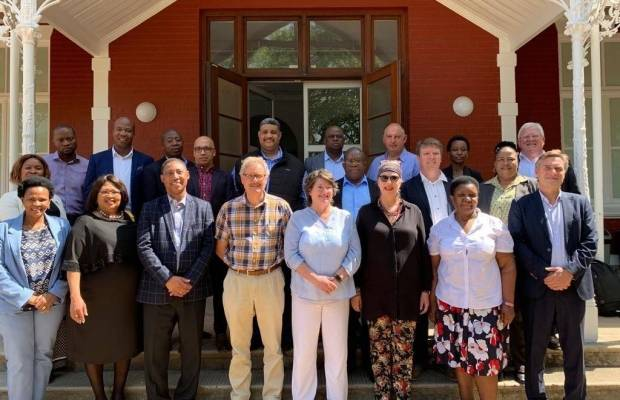 Representatives of the 6 x TVETs, Stellenbosch and local project implementers ACI and EAL