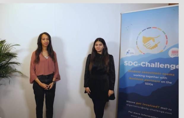 Nihal Hamad and Ritu Sen of the MSM SDG Team   Maastricht School of Management