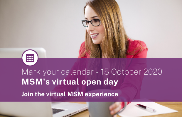 MSM Virtual Open Day October 2020