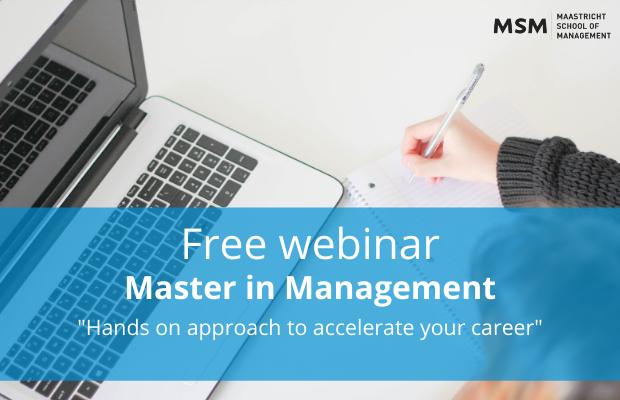 Master in Management webinar